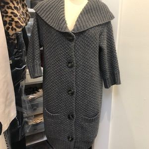 VINCE Button Front Cardigan Sweater Wool/Cashmere